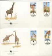 Kenia 1989 WWF Giraffen 481/84 FDC (R1954) - Kenya (1963-...)