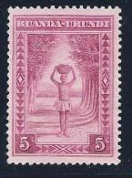 Ruanda-Urundi, Scott # 37 Unused No Gum Porter,1938 - Ruanda-Urundi
