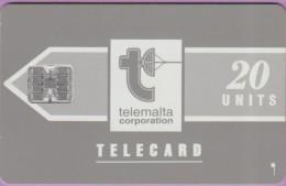 Malte  4.a  :-.   Telemalta 20  Corpo  °  Grise  -  Logo Blanc  ° Sc7 . C361-41872   **   T B E - Malte