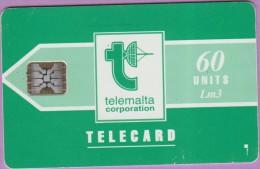 Malte  9.Ab  :-.   Telemalta 60  Corpo  °  Verte  -  Logo Blanc  ° Sc 5 . C311-41002   **   T B E - Malte