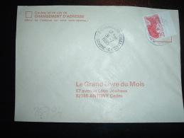 LETTRE TP LIBERTE DE GANDON 2,10F BORD DE CARNET OBL. 31-7-1985 73-CHAMBERY-CHAMNORD SAVOIE (73) DERNIER JOUR TARIF - 1982-90 Liberty Of Gandon