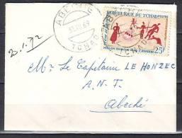 MINI Lettre Cachet  ABECHE  Tchad  Le 31 XII 1969  Pour Un CAPITAINE A ABECHE Tchad    SEUL Sur LETTRE - Tsjaad (1960-...)