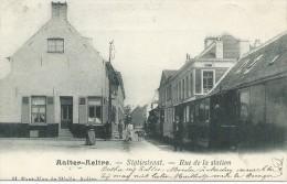 (P861) Aalter. De Statiestraat met de Stoomtram. PRACHTKAART. RARE RARE RARE !!!