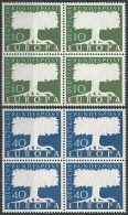 DEUTSCHLAND MI-NR. 268/69 Viererblock ** MNH - CEPT 1957 (111) - Europa-CEPT