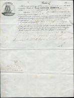 CONNAISSEMENT DE TUNIS LE 17/9/1854 POUR UN CHARGEMENT A DESTINATION DE MALTE - SUP - Maritime Post