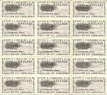 RATIONNEMENT  FEUILLETS TIMBRES RESTRICTION  CARBURANT AUTO  2 EME (30) 3 EME SERIE (10)  1 TIMBRE CONTRIBUTION ENTRAIDE - Historische Dokumente