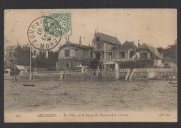 DF / 33 GIRONDE / ARCACHON / LES VILLAS DE LA PLAGE DU BOULEVARD DE L'OCÉAN / CIRCULÉE EN 1907 - Arcachon