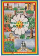 MESSINA IN VERDE PIACE DI PIU' ANNULLO FILATELICO 1988 - Messina