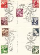 Noël - Père Noël - Allemagne - Empire - 2 Cartes Postales De 1938 - Fleurs - Châteaux - Storia Postale