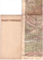CARTE - TOPOGRAPHIQUE - PUGET THENIERS - MALAUSSENE - MARIE - SAINT SAUVEUR - GUILLAUMES - PIERLAS - 1933 - 50.000è - Cartes Topographiques