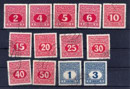 B.u.H. Porto Mi. Nr. 14 - 26 Gestempelt, Mi. 200,-- - Bosnia And Herzegovina