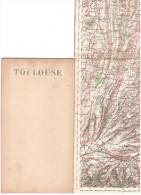 CARTE - TOPOGRAPHIQUE - TOULOUSE - SAINT GAUDENS - MIRANDE - AUCH - LAVAUR - PAMIERS - MIREPOIX - 200.000è - - Cartes Topographiques