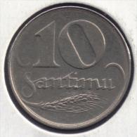 LETTONIE LATVIJA 10 SANTIMU 1922 - Letonia