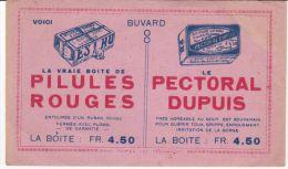 BUVARD PUB PILULES ROUGES & PECTORAL DUPUIS - Produits Pharmaceutiques