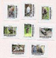 """Privatpost -  Biberpost  -  8 Werte """"Heimische Tiere"""" (Fuchs Wildkatze Mäusebussard Marderhund Schnee-Eule Waldkauz ..) - Andere"""