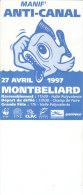 25.- MANIF ANTI-CANAL 27 Avril 1997 MONTBELIARD - Programmi
