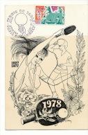 Premier Jour 1978 Paris Annecy Edité Par Arago Sport Orleans Dessin Huguette Sainson - Table Tennis