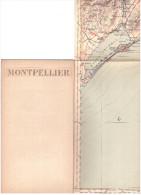 CARTE - TOPOGRAPHIQUE - SETE - MONTPELLIER - FRONTIGNAN - SAINT MARTIN DE CRAU - CAMARGUE - AERODROMES - 1939 - ISTRES - - Mapas Topográficas