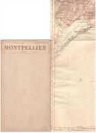 CARTE - TOPOGRAPHIQUE - SETE - MONPELLIER - FRONTIGNAN - SAINT MARTIN DE CRAU - CAMARGUE - AERODROMES - 1939 - ISTRES - - Cartes Topographiques