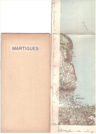 CARTE - TOPOGRAPHIQUE - MARTIGUES - MARIGNANE - SEPTEMES LES VALLONS - VENTABREN - VELAUX - AERODROMES - 1939 - ROGNAC - - Topographische Karten