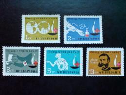BULGARIA 1964 HISTORY 100 Years Of RED CROSS ORGANIZATION - Fine Set MNH - Bulgarie