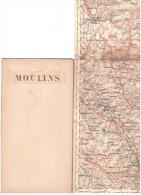 CARTE - TOPOGRAPHIQUE - MOULINS - AUBUSSON - COMBRONDE - CHANTELLE - MONTLUCON - CHATEAUMEILLANT - LA CHATRE - MANZAT - - Topographical Maps