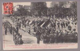 Troyes Fête Fédérale De Gymnastique 1908 Arrivée Du Ministre De La Guerre Sur Le Stade - Troyes