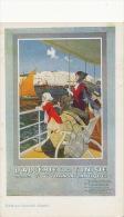 Pub Dessin CGT Transatlantique Algerie Tunisie Comoedia Illustré - Steamers