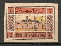 Timbres - Russie - Républiques Transcaucasiennes - Azerbaidjan - 1919 - 2 -