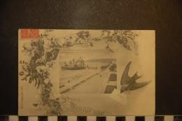 CP, 06, Souvenir De Nice Edition Giletta Fleurs Et Oiseau - Nice