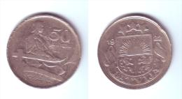 Latvia 50 Santimu 1922 - Latvia