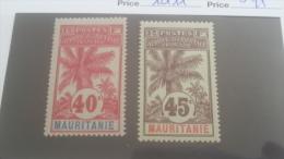 LOT 227454 TIMBRE DE COLONIE MAURITANIE NEUF* N�10/11 VALEUR 25 EUROS