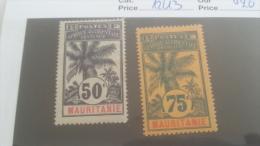 LOT 227455 TIMBRE DE COLONIE MAURITANIE NEUF* N�12/13 VALEUR 20 EUROS