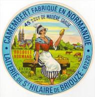 Etiquettes De Fromage. Camembert.  Laiterie De St Hilaire De Briouze. Orne  Neuve - Fromage