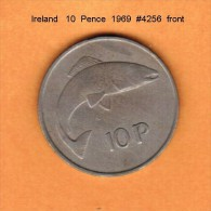 IRELAND   10  PENCE  1969 (KM # 23) - Ireland