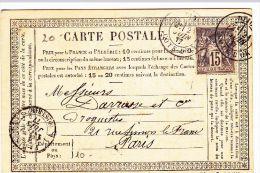 COTE D´OR -  Oblit Sur Sage  DIJONT187721/06/1877 (Lot53_7) - Marcophilie (Lettres)