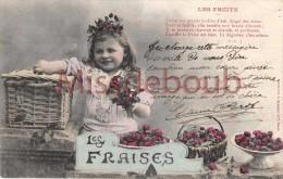 BERGERET - Lot De 3 Cpa - Les Fruits - Pommes, Fraises; Les Cerises - Voir Scan - Bergeret
