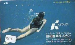 Télécarte JAPON * Plongée (182)  Phonecard JAPAN DIVING * CORAUX * CORAL * TAUCHEN * DUIKEN * OPENWATERDIVING PADI - Sport