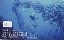 Télécarte JAPON * Plongée (183)  Phonecard JAPAN DIVING * CORAUX * CORAL * TAUCHEN * DUIKEN * OPENWATERDIVING PADI - Sport