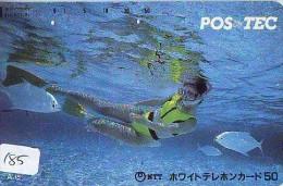Télécarte JAPON * Plongée (185)  Phonecard JAPAN DIVING * CORAUX * CORAL * TAUCHEN * DUIKEN * OPENWATERDIVING PADI - Sport