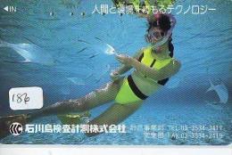 Télécarte JAPON * Plongée (186)  Phonecard JAPAN DIVING * CORAUX * CORAL * TAUCHEN * DUIKEN * OPENWATERDIVING PADI - Sport