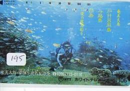 Télécarte JAPON * Plongée (195)  Phonecard JAPAN DIVING * CORAUX * CORAL * TAUCHEN * DUIKEN * OPENWATERDIVING PADI - Sport