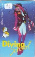 Télécarte JAPON * Plongée (199)  Phonecard JAPAN DIVING * CORAUX * CORAL * TAUCHEN * DUIKEN * OPENWATERDIVING PADI - Sport