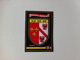 Ancien BLASON ADHESIF ILE DE RE - Stickers