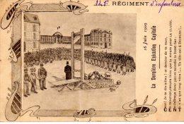 141e REGIMENT D'Infanterie - La Dernière Exécution Capitale 16 Juin 1909 - Humour