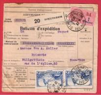 COLIS POSTAL  //  De Schiltigheim  ---   Pour Wilgottheim  --   3-5-1937 - Usados