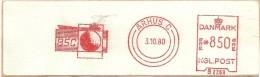 Danmark Nice Cut Meter BSC, Arhus 3-10-1980 - Frankeervignetten (ATM/Frama)