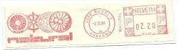 Helvetia Nice Cut Meter NATURAL, Basel 2-12-1981 - Frankeermachinen