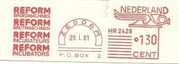 Netherlands Nice Cut Meter REFORM Broedmachines, Brutmachines, Incubateurs, Incubators, Zeddam 29-1-1981 - Boerderij