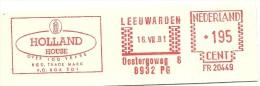 Netherlands Nice Cut Meter Holland House Over 100 Years, Leeuwarden 16-7-1981 - Marcofilie - EMA (Print Machine)